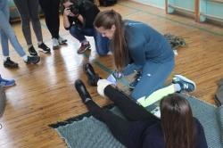 Практичні навчання школярів тактичної медицини
